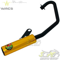 Escape / Ponteira Wacs Modelo Rocket Pop 100 - Dourado Honda