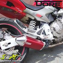 Escape / Ponteira Alumínio Modelo Dore Ninja 250 R Vermelho