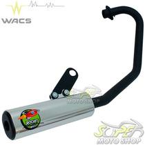 Escape Ponteira Wacs Rocket Cg 150 Fan Titan 2014.. Prata