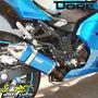 Escape / Ponteira Alumínio Modelo Dore - Ninja 300 R - Azul