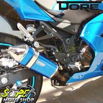 Escape / Ponteira Alumínio Modelo Dore - Ninja 250 R - Azul