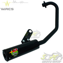 Escape Ponteira Wacs Rocket Cg 150 Fan Titan 2014.. Preto