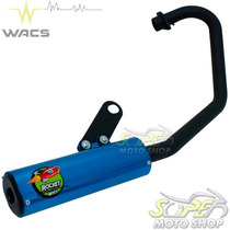Escape Ponteira Wacs Rocket Cg 150 Fan Titan 2014.. Azul