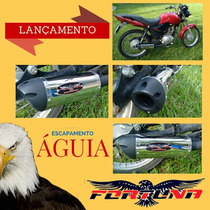 Escapamento Yes 125 Suzuki Esportivo Modelo Águia Fortuna