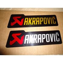 Adesivo Emblema Akrapovic P/ Temperatura De Escapamento