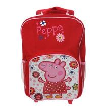 Mochila Da Peppa Pig De Rodas Modelo Primavera Premium