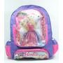 Mochila Escolar Infantil Barbie + Lancheira + Estojo