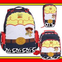 Kit Mochila Lancheira Estojo Toy Story Jessie Garota Woody