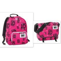 Kit Mochila E Bolsa Pink One Direction - Nova Coleção