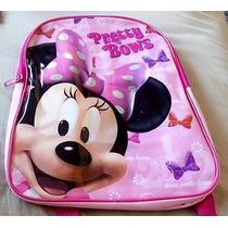 Mochila Minnie Original Disney Importada Rosa Pronta Entrega