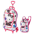 Mochila Infantil Rodinhas 3d + Lancheira Hello Kitty Maxtoy