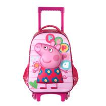 Mochila De Rodinhas Peppa Pig - G - 5240