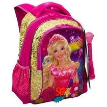 Mochila Costas Média Barbie O Portal Secreto Dourada Sestini