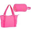 Bolsa Tote Capricho Love Pink + Estojo Duplo Original