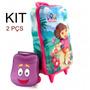 Kit Mochilete 3d + Lancheira Dora Aventureira - Max Toy