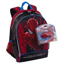 Mochila Homem Aranha( G )- Spiderman - C/óculos Que Acende!!