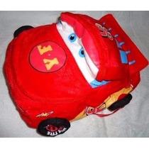 Carros Mochila Cars Relampago Mcqueen Rodinha 3d Dimens