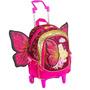 Mochila C/ Rodas M Barbie Butterfly E A Princesa Fairy Rosa