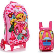 Mochila Escolar Mochilete 3d Penelope Charminho + Lanch
