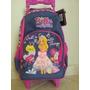 Mochila Feminina Infantil Bella Barbie C/ Rodinhas+lancheira