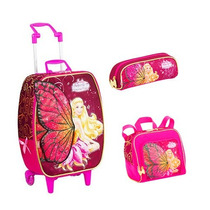 Kit Mochila Barbie Butterfly E Princesa Fairy+ Lanch+ Estojo