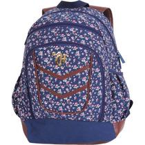 Mochila Capricho G Floral Azul Liberty Dmw Licenciada