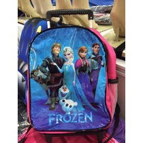 Mochila Escolar Com Rodinhas Frozen - Grande- Pronta Entrega