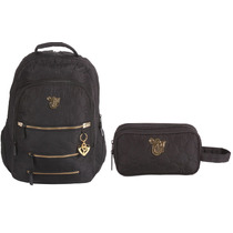 Kit Mochila Capricho Black + Estojo 2z Original