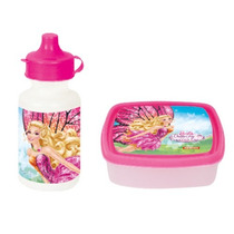 Lancheira Barbie Butterfly E Princesa Fairy Rosa - Sestini