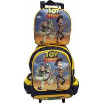 Mochila De Rodinhas + Lancheira Térmica Toy Story