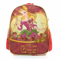Mochila Bolsa Luxcel Princess Infantil - Vermelha