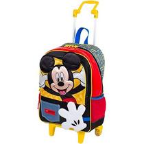 Mochila Infantil C/rodinhas Mickey G 16y Sestini