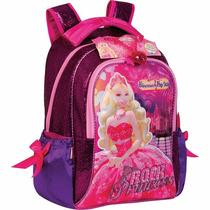 Mochila Escolar Barbie A Princesa E A Pop Star Sestini