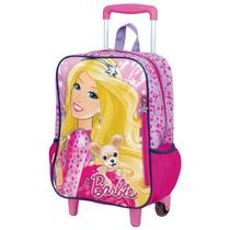 Mochilete Barbie Tamanho G, Até 15lts, 2 Rodas - Sestini