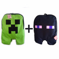 Kit Mochila Bolsa Game Minecraft Creeper E Enderman Escolar
