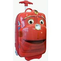 Mochila Mini Bag Infantil C/ Rodinhas E Alças Carros Spector