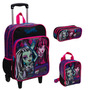 Kit Mochila Monster High Grande C/ Roda + Lancheira + Estojo