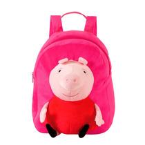 Mochila Peppa Pig Pelúcia Em Plush 3d, Rosa - Xeryus