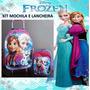 Mochila Da Frozen Com Lancheira Frete Grátis