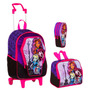 Kit Escolar Mochila Monster High ( M ) + Lancheira+ Estojo