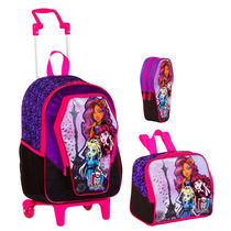 Kit Escolar Mochila Monster High ( M ) + Lancheira+ Estojo