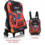 Mochila Carros Turbo Rodinhas Grande + Lancheira Kit 3d
