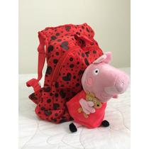 Mochila Peppa Pig E George Pig Varios Modelos - Importada