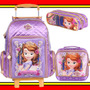 Kit Mochilete G Lancheira Estojo Disney Princesa Sofia Eva