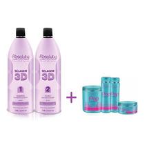 Selagem 3d Absoluty Beauty 1500ml + Kit Progressivo Pop Teen