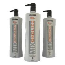Escova Progressiva Mix Oxolizz 3 Produtos 1l Cada