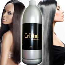 Kit Escova Cristal 1 Litro Do Ativo, 1 Shampoo E Uma Máscara