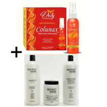 Kit 12 Colunax + Kit Progressiva Secret Hair System