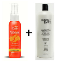 Máscara Redutora Secret Hair System + Colunax Spray