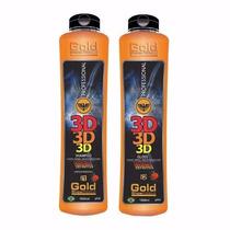 Escova Definitiva 3d Gold Show Premium 2x1000ml